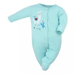 Dojčenský bavlnený overal Koala Happy Baby tyrkysový