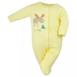 Dojčenský bavlnený overal Koala Happy Baby žltý