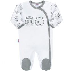 Dojčenský bavlnený overal New Baby Emotions biela
