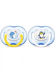 Dojčenský cumlík Avent 18 mesiacov a viac-2ks modré