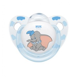 Dojčenský cumlík NUK Disney Classic 6-18m chlapec transparentná