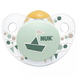 Dojčenský cumlík NUK Trendline Adore 6-18m zelený