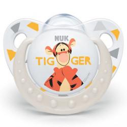 Dojčenský cumlík Trendline NUK Disney Tigger 6-18m béžový