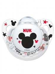 Dojčenský cumlík Trendline NUK Mickey 0-6m transparentný