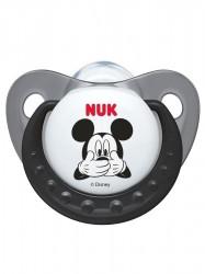 Dojčenský cumlík Trendline NUK Mickey 6-18m sivý