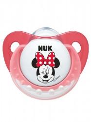 Dojčenský cumlík Trendline NUK Minnie 6-18m ružový