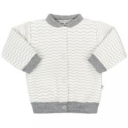 Dojčenský kabátik Baby Service Cik-Cak sivá