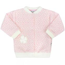 Dojčenský kabátik Baby Service Štvorlístok ružová