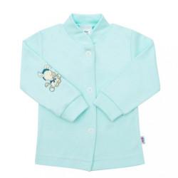 Dojčenský kabátik New Baby Mouse Artist zelený tyrkysová
