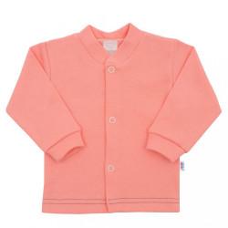 Dojčenský kabátik New Baby Mouse lososový ružová