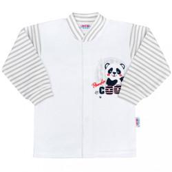 Dojčenský kabátik New Baby Panda sivá