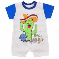 Dojčenský letný overal Koala Cactus Summer modrý