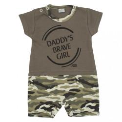 Dojčenský letný overal New Baby Army girl zelená