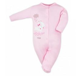 Dojčenský overal Bobas Fashion Mini Baby ružový