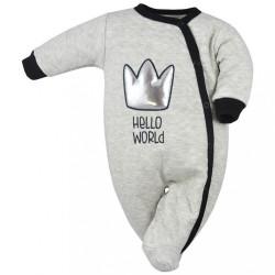 Dojčenský overal Koala Hello World sivá