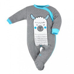 Dojčenský overal Koala Lama sivo-modrý