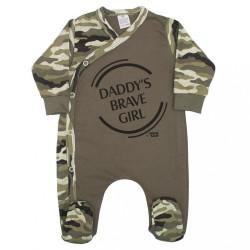 Dojčenský overal New Baby Army girl zelená