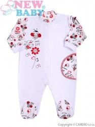 Dojčenský overal New Baby Lienka biela