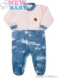 Dojčenský overal New Baby Light Jeansbaby ružový