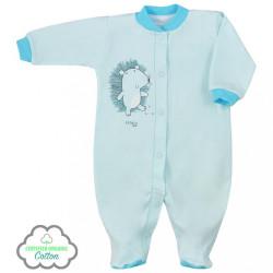 Dojčenský overal z organickej bavlny Koala Lesný Priateľ béžový modrá