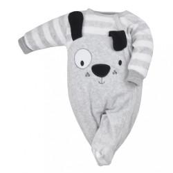 Dojčenský semiškový overal Koala Rex sivá