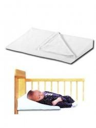 Dojčenský vankúš - klin malý biela