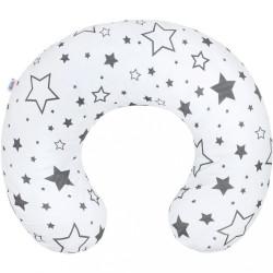 Dojčiaci vankúš New Baby hviezdy sivé biela