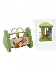 Drevená edukačná hračka Baby Mix trojuholník zelená
