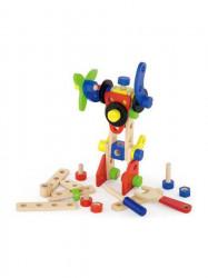 Drevená konštrukčná stavebnica pre děti Viga 48 dielov multicolor