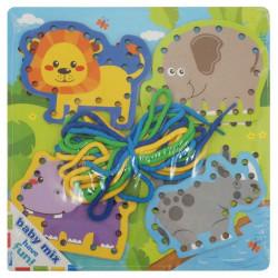 Drevená prepletacia hračka Baby Mix Safari podľa obrázku