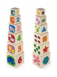 Drevená pyramida pre deti Viga multicolor