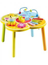 Drevený edukačný stolík Baby Mix podľa obrázku