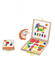 Drevený kufrík s magnetickými kockami pre deti Viga multicolor