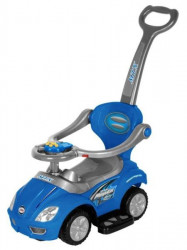 Dziecięcy jeździk z dźwiękiem 3w1 Baby Mix blue modrá