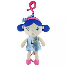 Edukačná hrajúca plyšová bábika Baby Mix námorník dievča blue modrá
