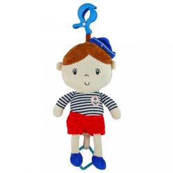 Edukačná plyšová bábika Baby Mix námorník chlapec podľa obrázku