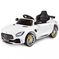 Elektrické autíčko Toyz Mercedes GTR - 2 motory white biela