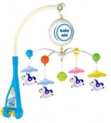 Elektrický kolotoč nad postieľku Baby Mix Koníky podľa obrázku