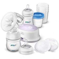Elektronická odsávačka Avent Natural + sada na dojčenie transparentná