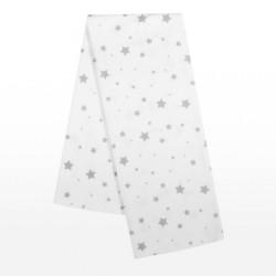 Flanelová plienka s potlačou New Baby biela hviezdy sivé