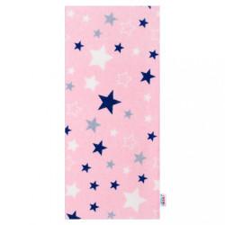 Flanelová plienka s potlačou New Baby ružová s modrými hviezdičkami