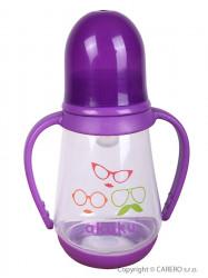 Fľaša s obrázkom Akuku 125 ml fialová