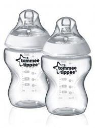Fľaša Tomme Tippee C2N 260 ml 2ks transparentná
