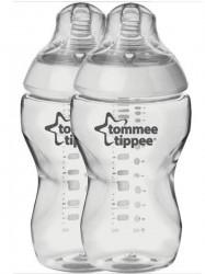 Fľaša Tomme Tippee C2N 340 ml 2ks transparentná