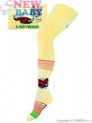 Froté pančucháčky New Baby žlté s lienkou