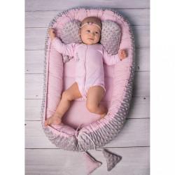 Hniezdočko s perinkou pre bábätko Minky Sweet Baby Belisima ružové #2