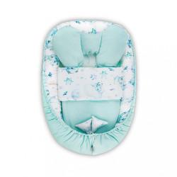 Hniezdočko s perinkou pre bábätko Velvet Belisima Sleeping bears zelená