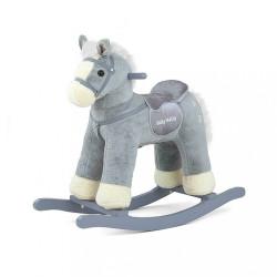 Hojdací koník s melódiou Milly Mally PePe sivý