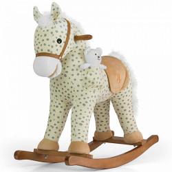 Hojdací koník s melódiou Milly Mally Pony Gray Dot béžová