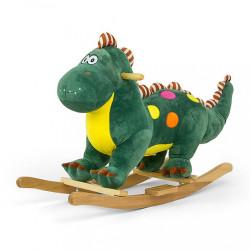 Hojdacia hračka s melódiou Dino zelená